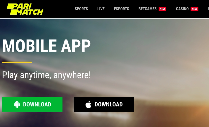 Mobile betting - Bookmaker office Parimatch